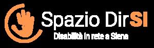 Logo Spazio Dirsi, formato da due mani che si sovrappongono