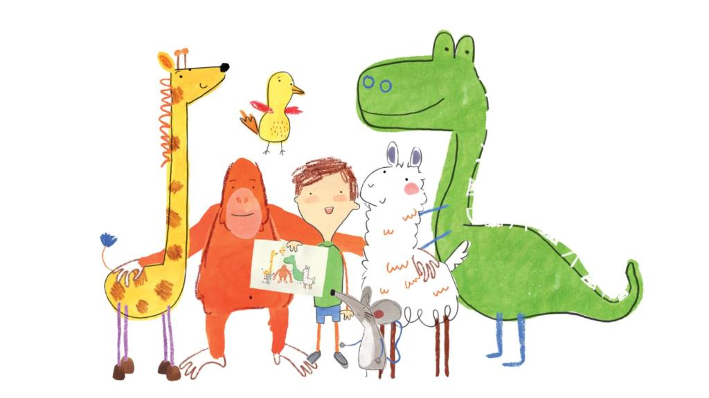 foto: I personaggi di Pablo, cartone animato sull'autismo.