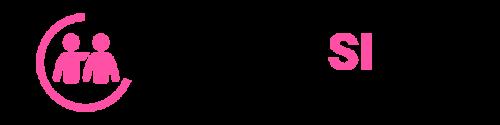 Logo Spazio Insieme, formato da due persone stilizzate, una delle due stringe a sé l'altra